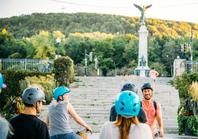 Copy of view of Mont-Royal on Fitz bike ride Montreal