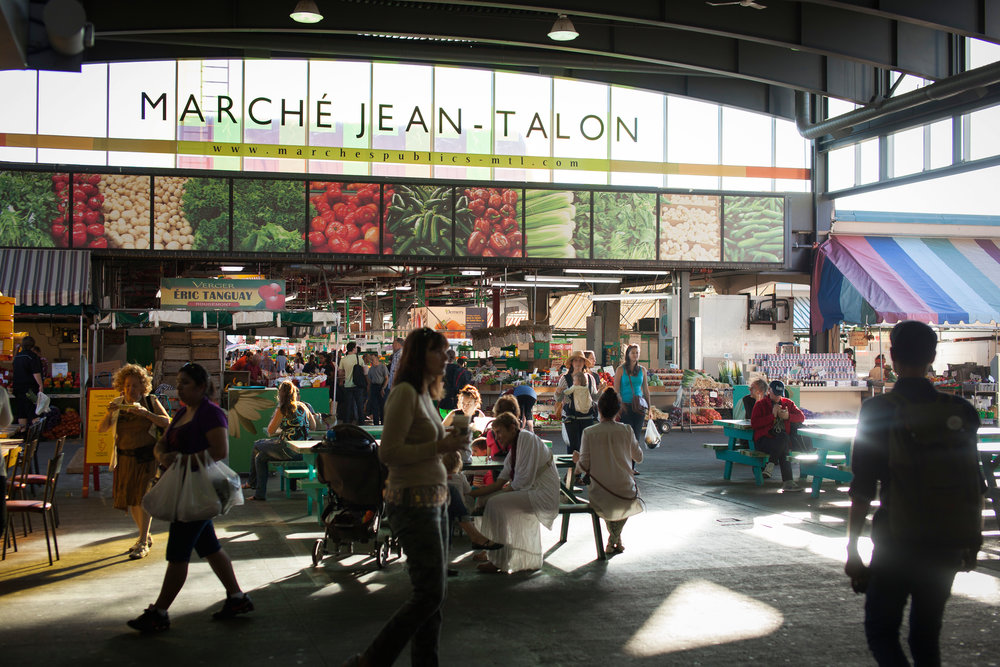 Jean-Talon market on bike tour Montreal