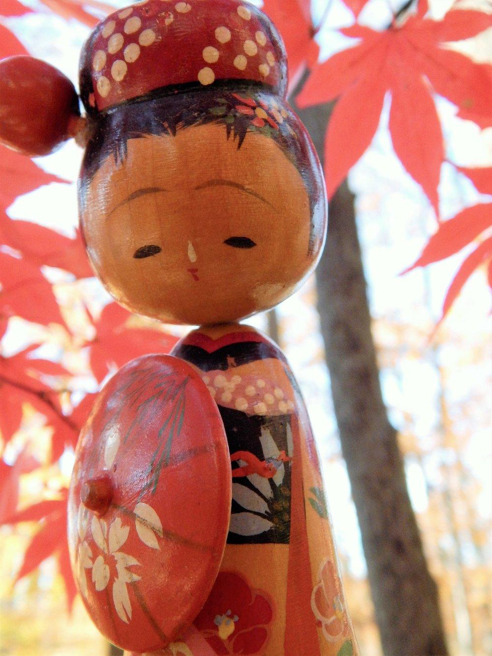 Higasa and Japanese maple