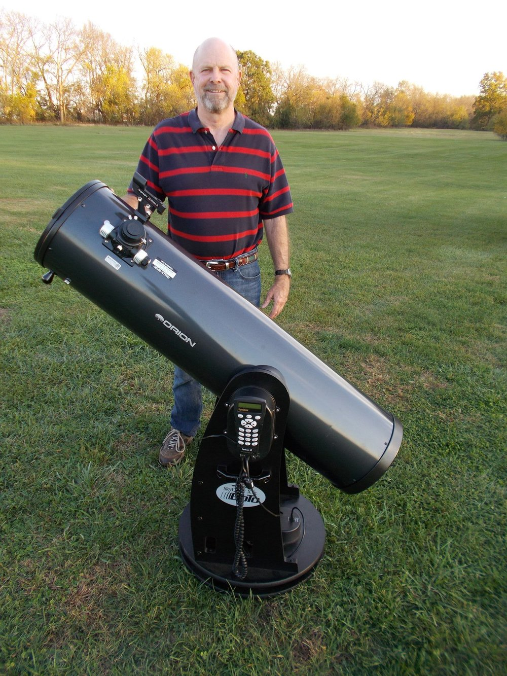"Our smaller 10"" Orion telescope."