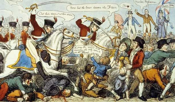 Peterloo Massacre, 1819