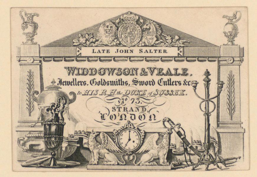 Widdowson & Veale trade card