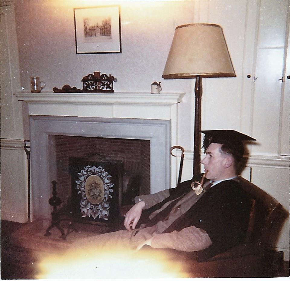 Housemaster David Verdon Knight in his study. Source: Cheryl Spray