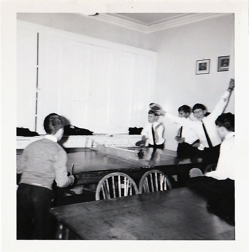 Boarders playing table tennis, 1950s. Source: Cheryl Spray