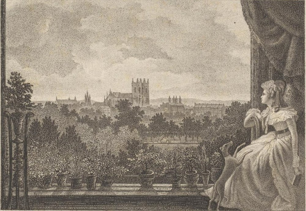 View from Mr Cosway's breakfast room, painted by William Hodges