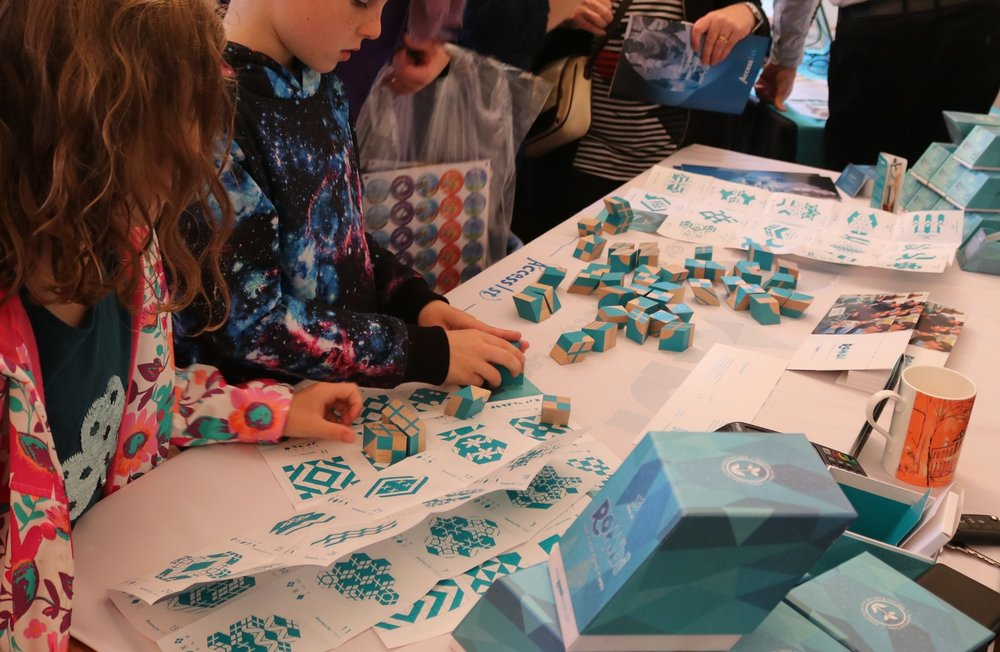 Children exploring educational games at our the Dyslexia Fair held at Bell House.