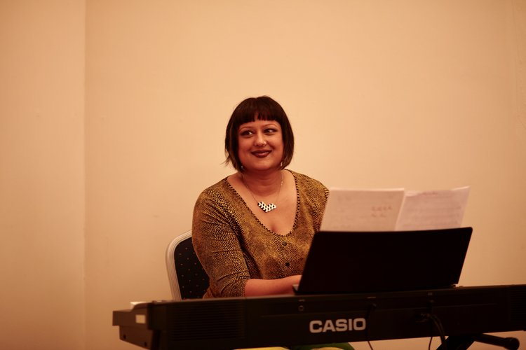 Lorraine Liyanage on piano