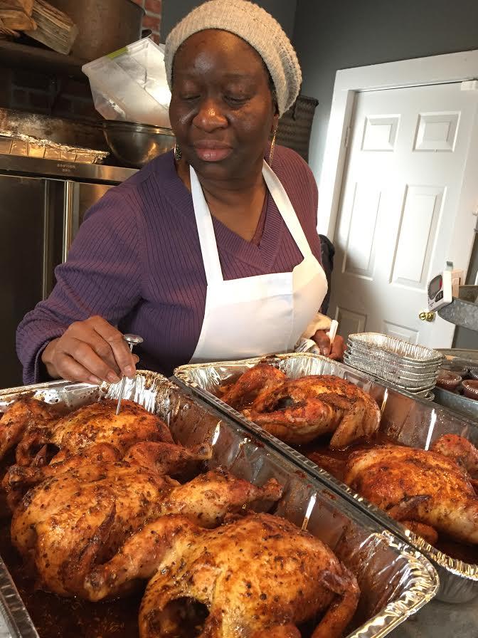 Ali, smoked chicken