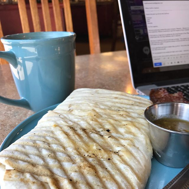 Work-cation continues! #work #workcation #coffee #giantburrito #workingremotely