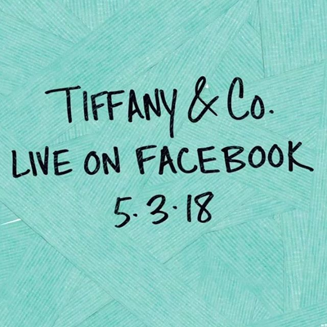 It's going down tonight!!! Tune in to the @tiffanyandco Facebook page tonight at 9pm EST for a special event live stream!  #tiffany #breakfastattiffanys #nyc #video #livestream
