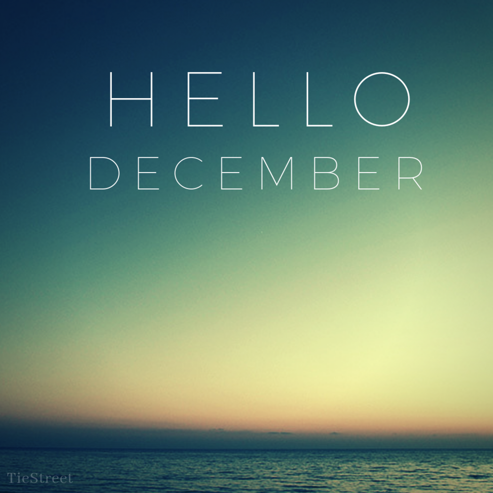 Hi December! - While December is the last month of the year, I'm working really hard to think of it as the end. It's really another month to achieve my goals for the year and not just time to prepare for next year. I'm working hard to get much done this month as possible so I can be happy with my progress.Let's not copy and paste our old resolutions to the new list but let's try to cross them off the list before we do our New Year's countdown.