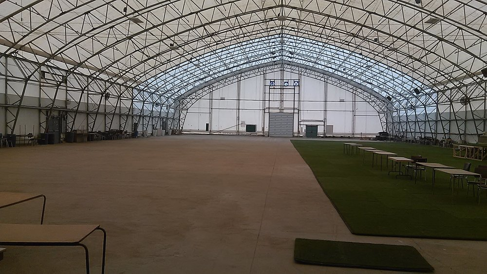 Inside the 31,900SqFt Agridome