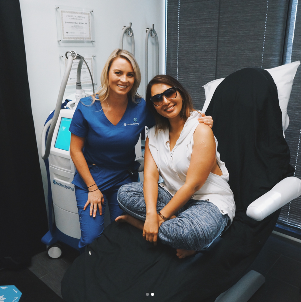 Loved having world famous blogger @theambitionista in our office for some CoolSculpting on her arms and thighs!*