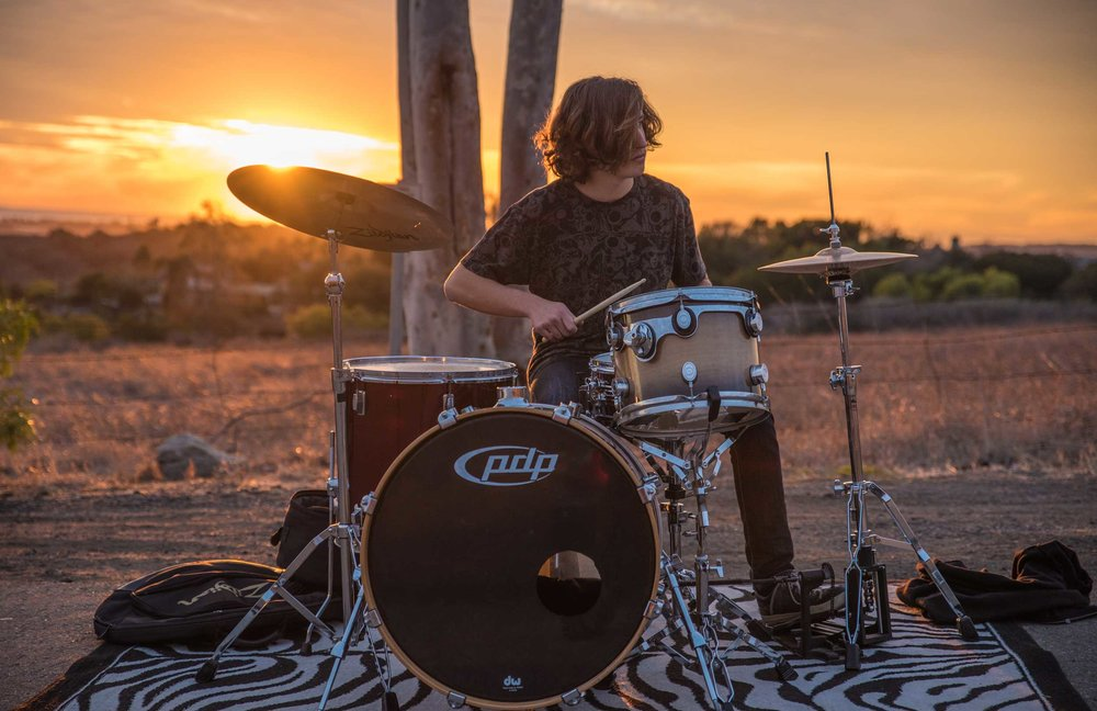 Sunset Drummer
