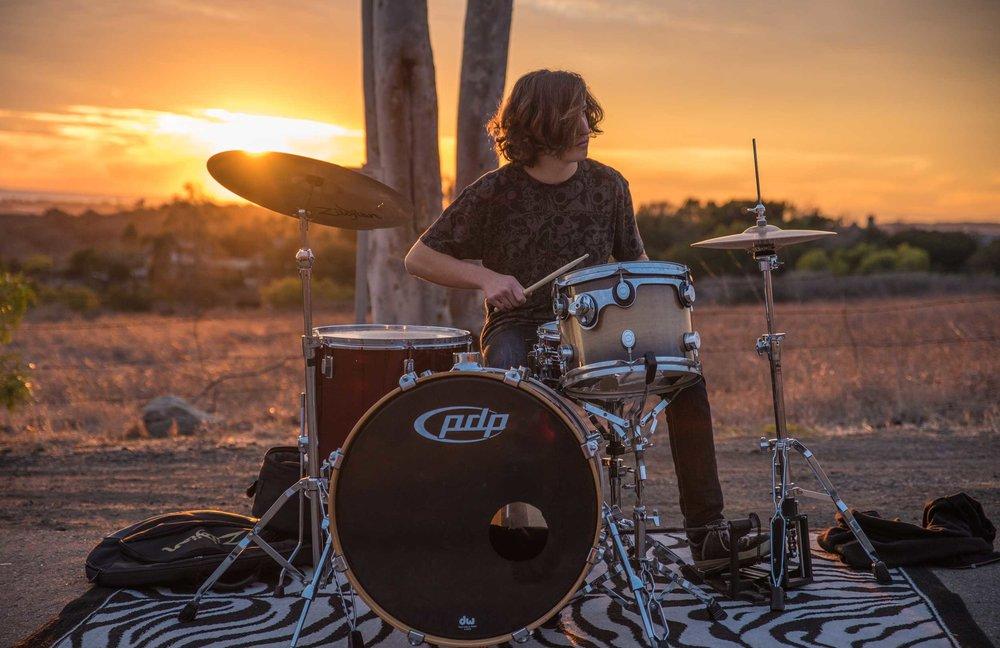 Sunset Drummer