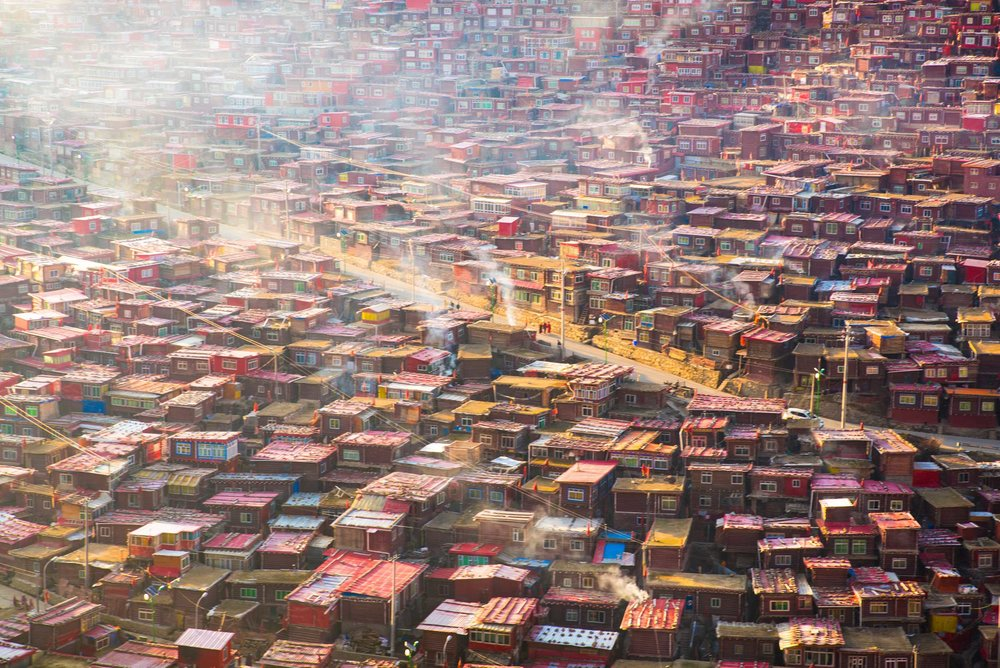 Sunrise Over Larung Gar