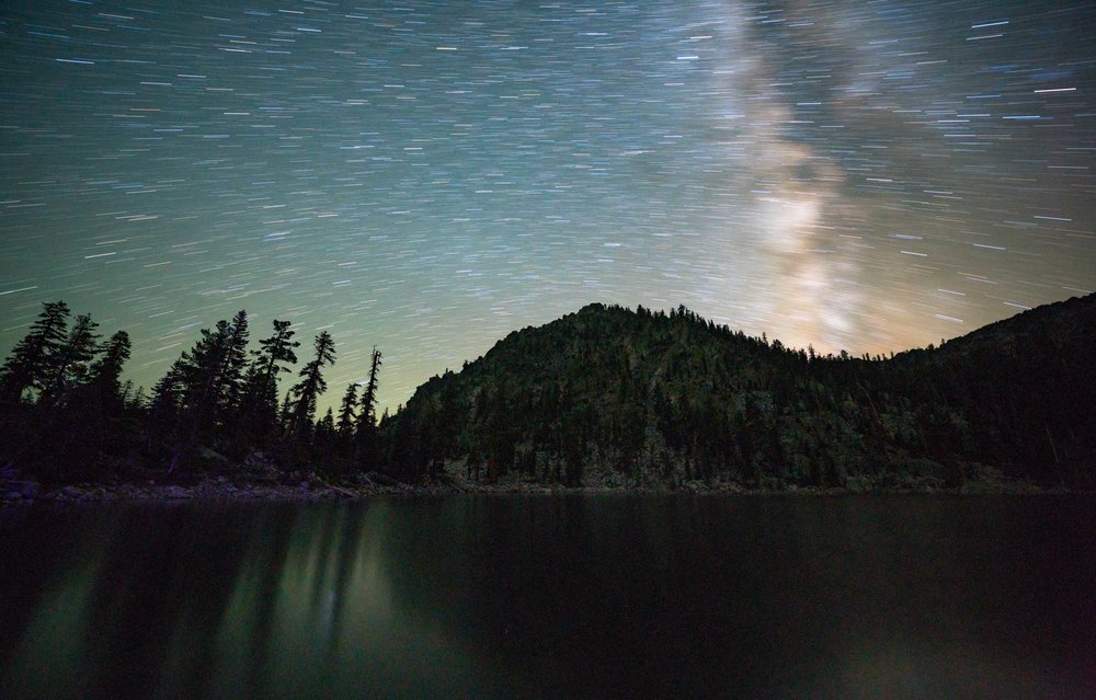 23 minute exposure over Porcupine Lake