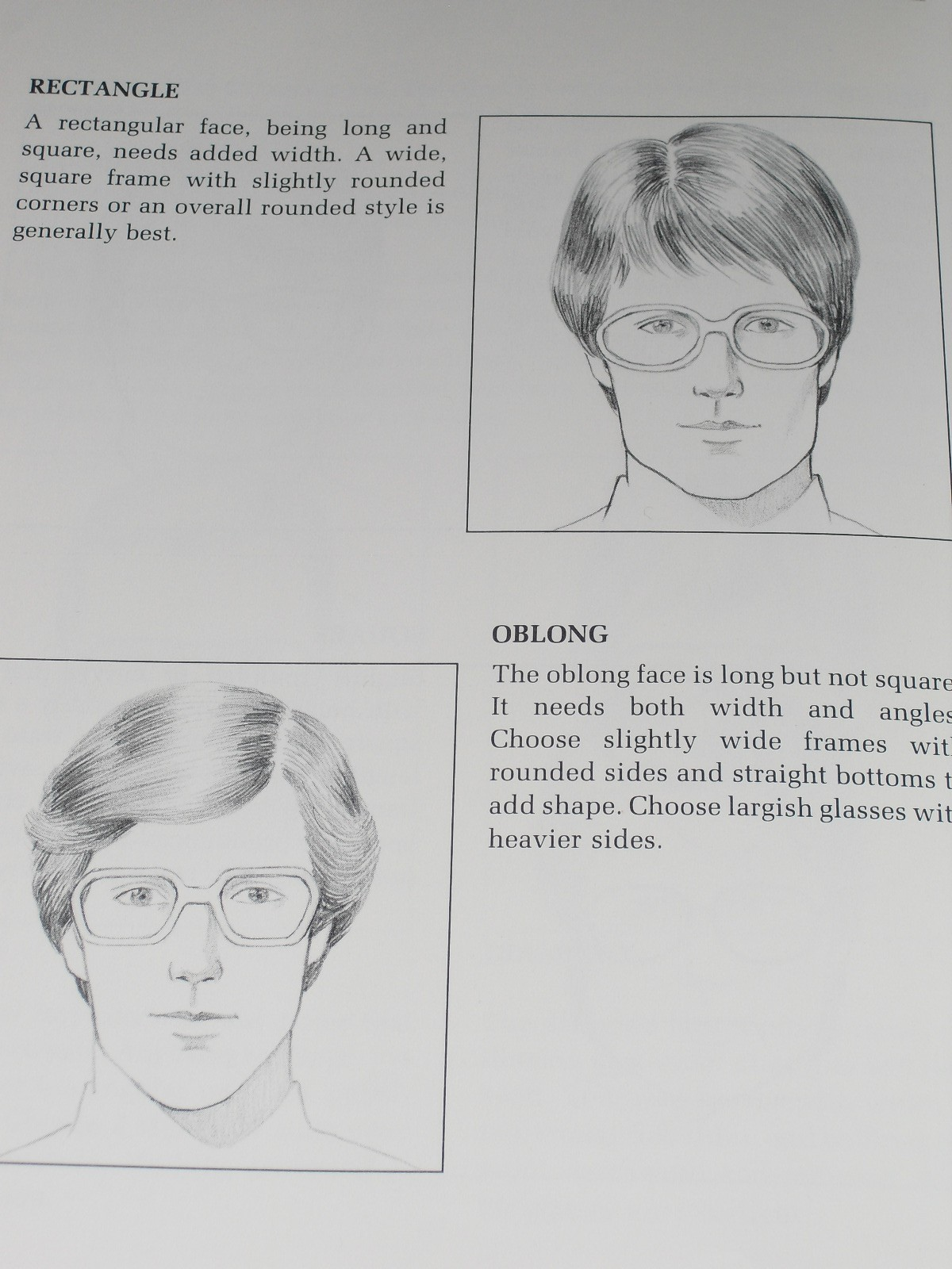 Pictures of 2 men wearing glasses