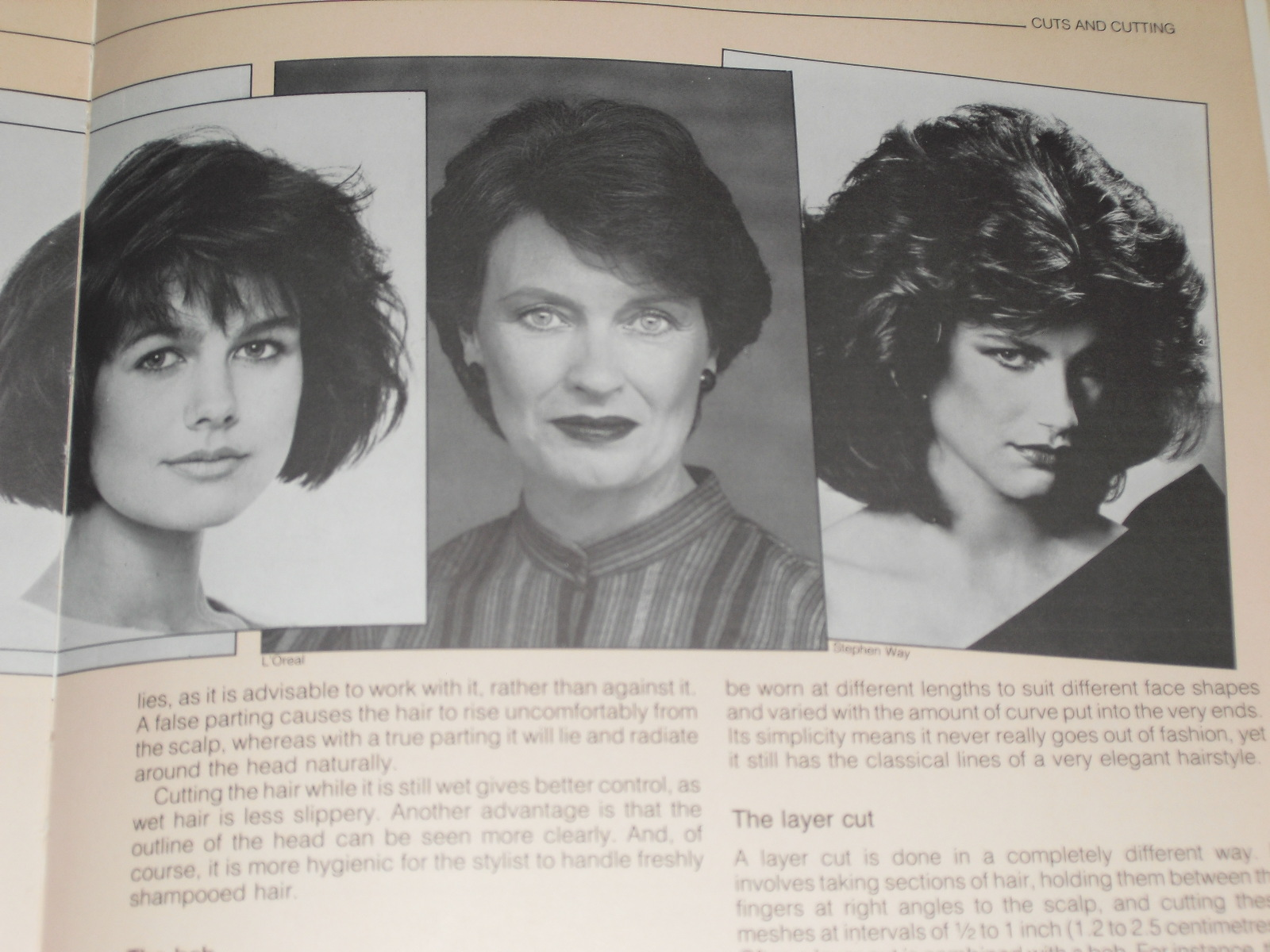 Pictures of 3 women with 80's style haircuts