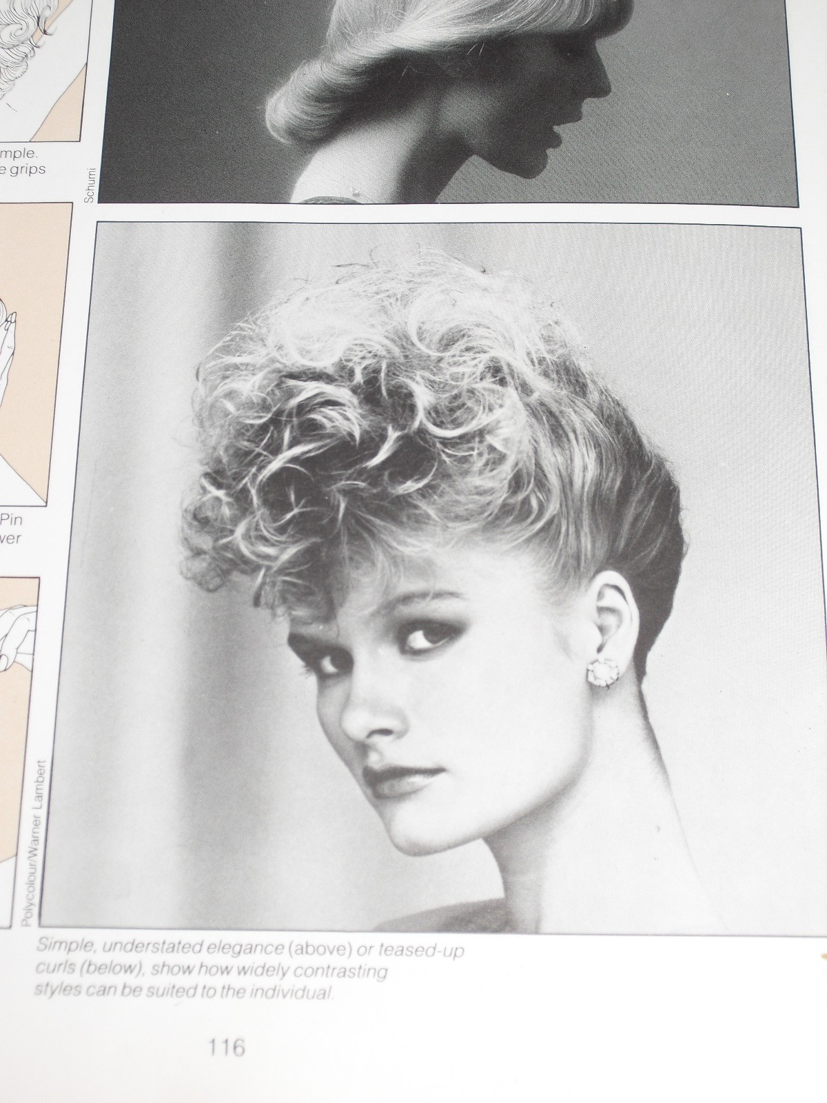 Woman with 80's hair