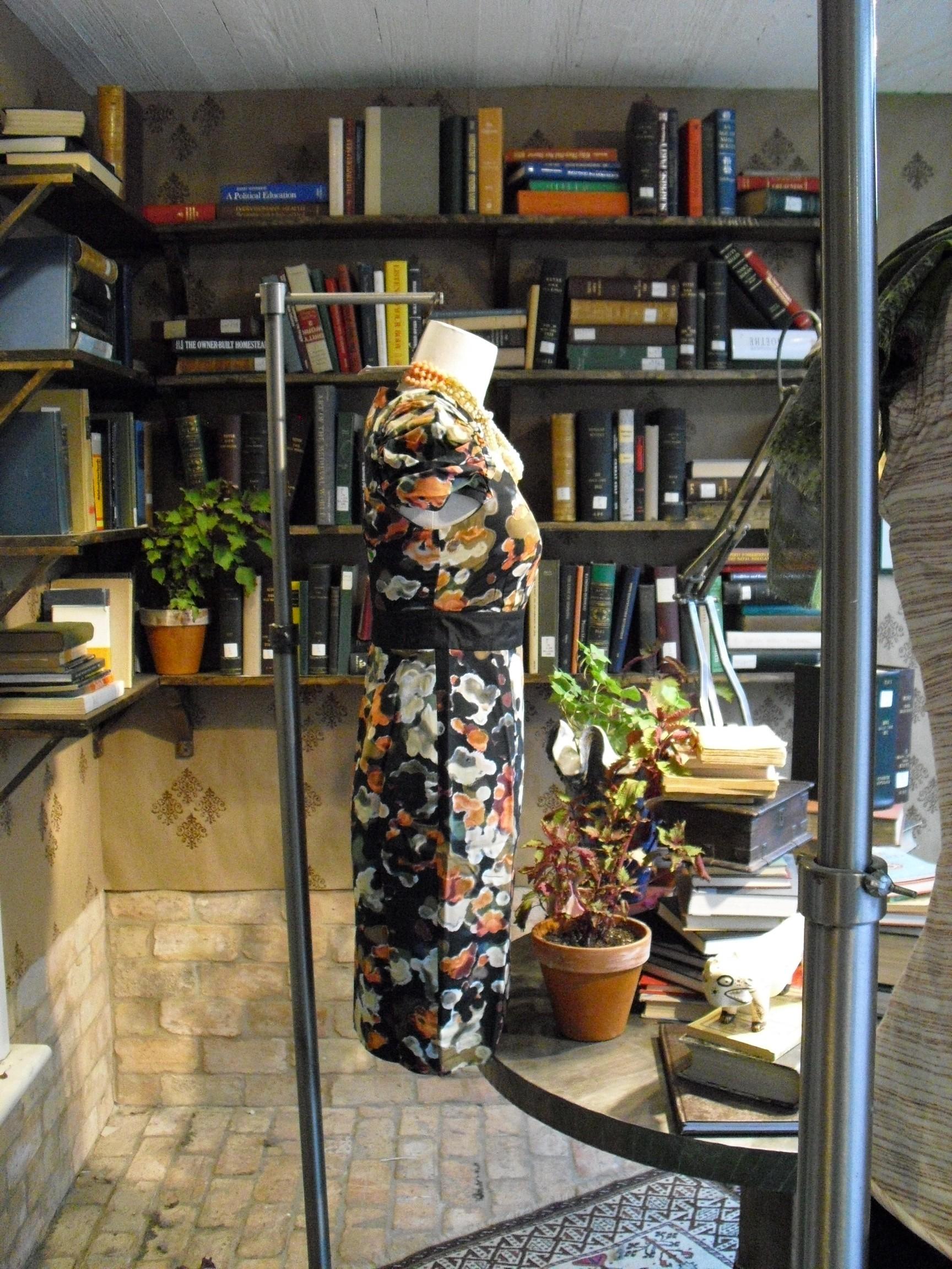 Dress, Shelves of Books