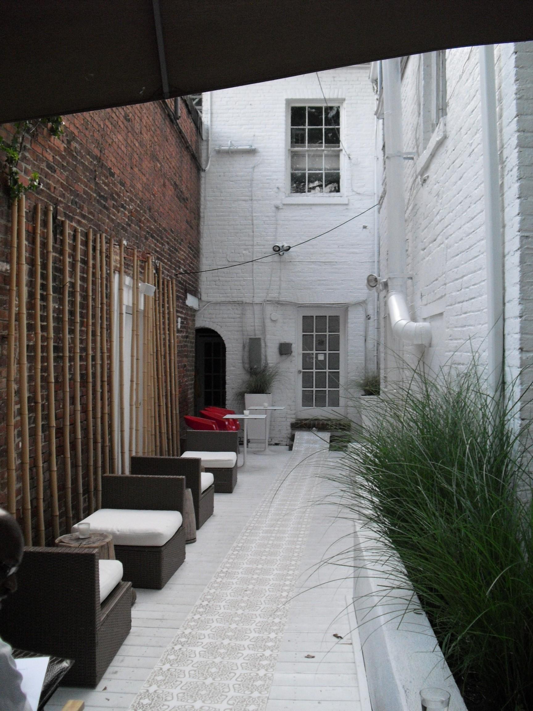 Backyard of Puro Cafe