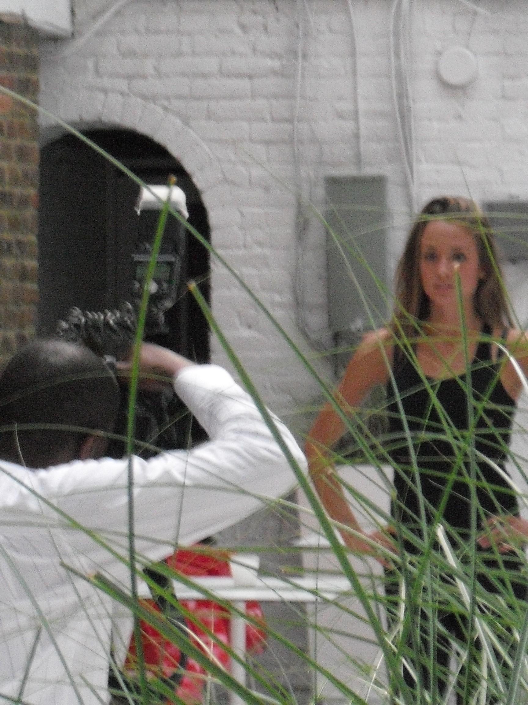 Model having her picture taken