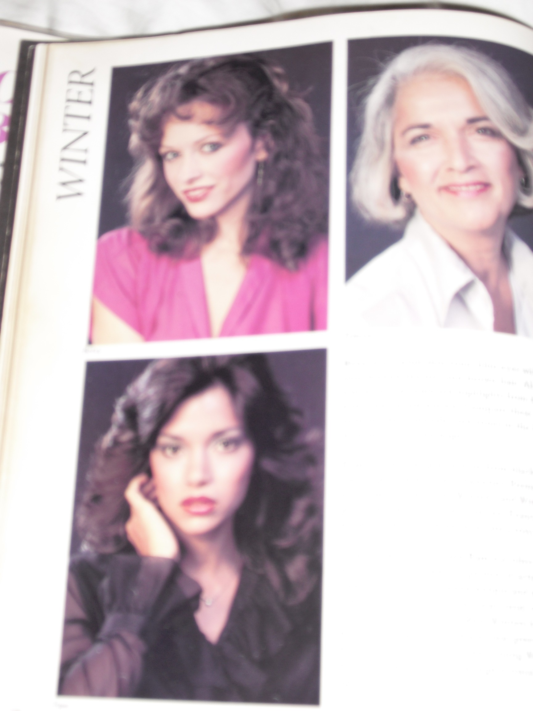 Color Me Beautiful pictures of 3 women with 80's hair / makeup