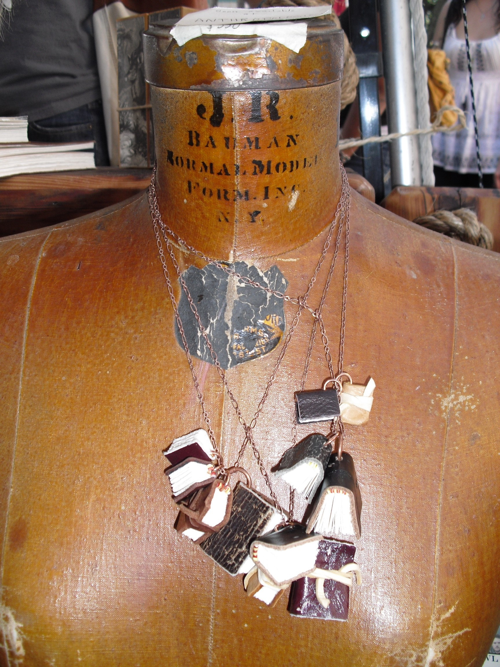 Necklace made of small journals