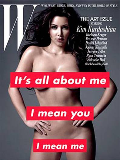 Kim Kardashian nude on W cover