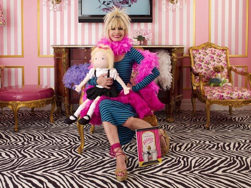 Picture of Betsey Johnson in the Eloise Suite at the Plaza Hotel