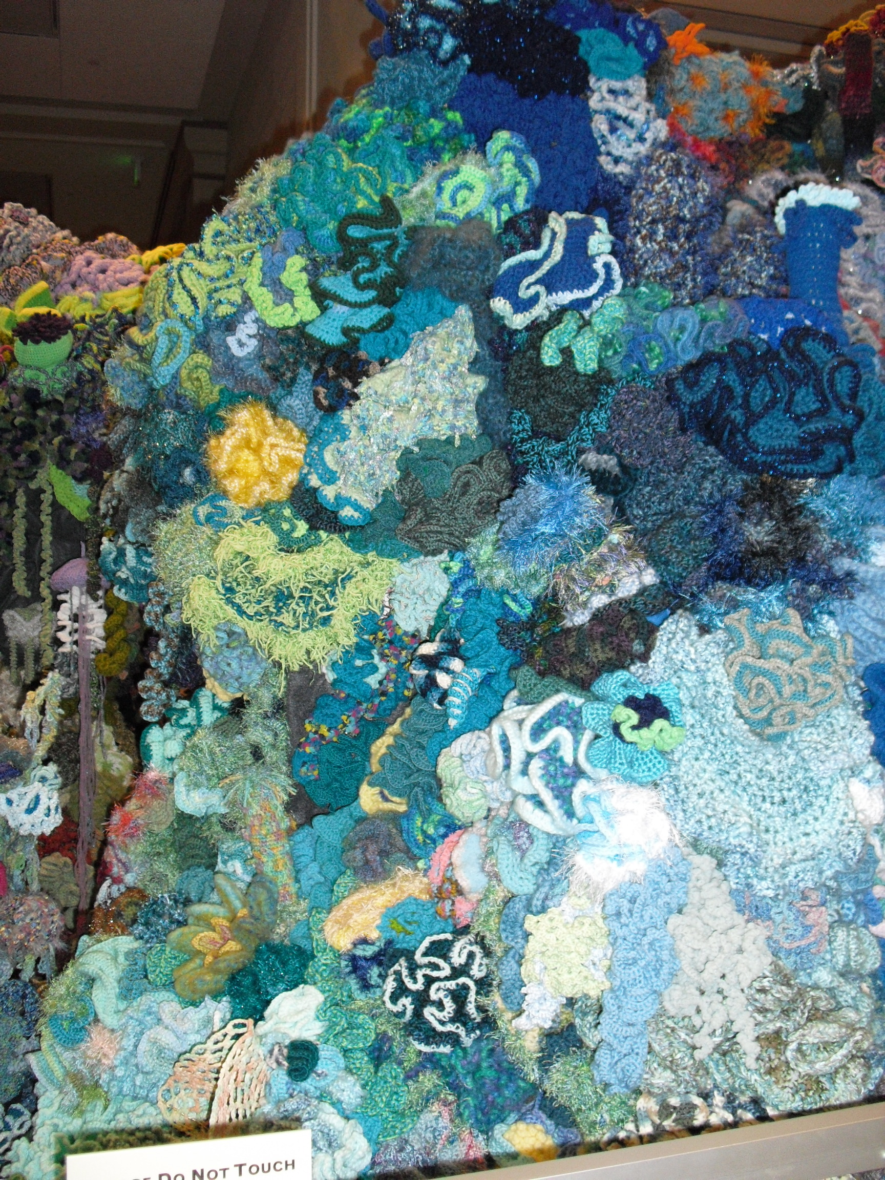 Blue section of the Hyperbolic Crochet Coral Reef