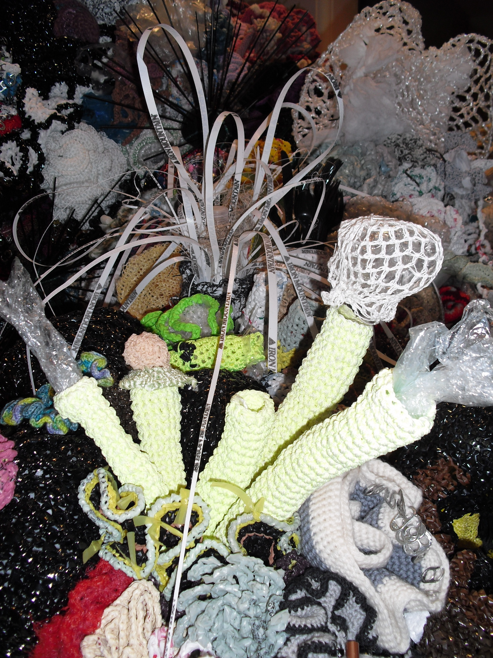Toxic coral reef The Hyperbolic Crochet Coral Reef exhibit