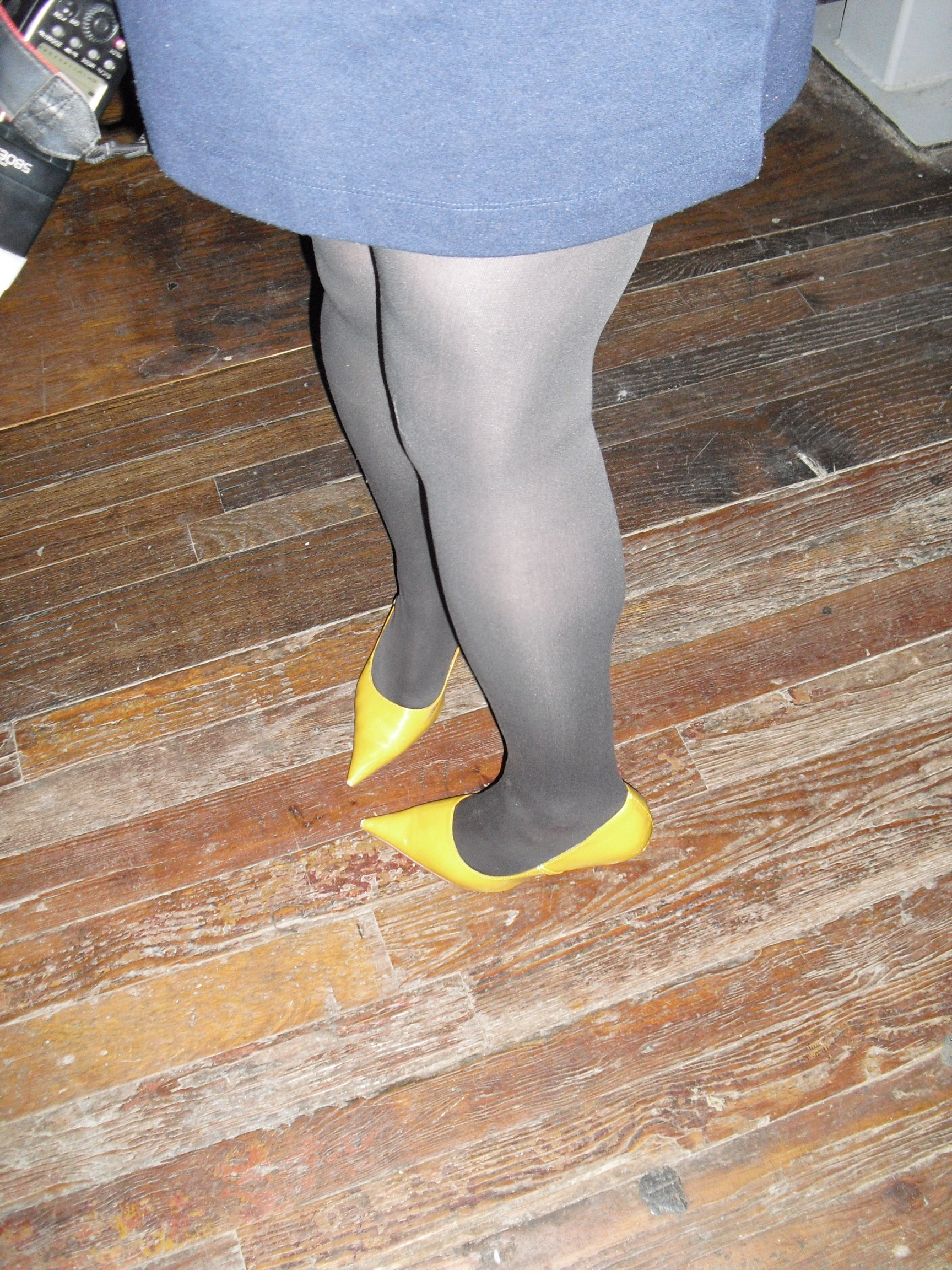 Picture of yellow high heels