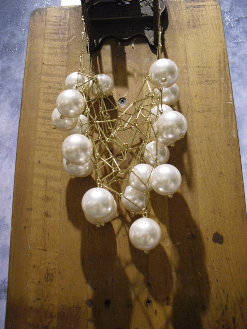 Necklace of large faux pearls from Anthropologie