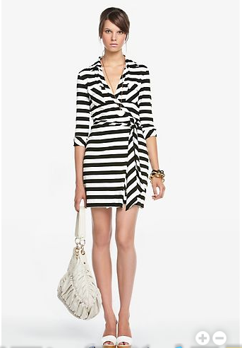 Black and White Diane von Furstenberg Dress