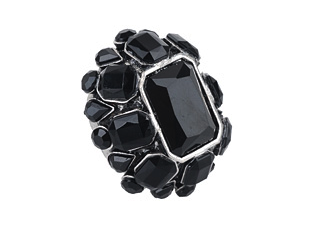 Black Flower Ring from Forever21