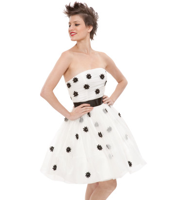 Betsey Johnson White Strapless Dress