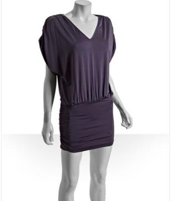 Purple Jersey drop waist tunic dress