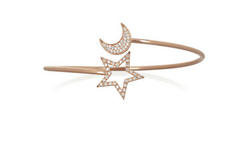 Gold bracelet with a sun and moon
