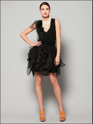 Black Silk Skirt