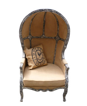 Chair with a high back
