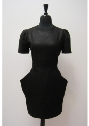 Black Dress with big pockets