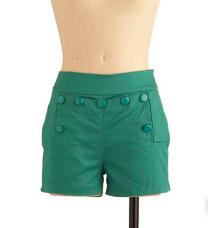 Candy Shop Shorts in Green Apple