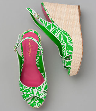 Lilly Pulitzer Green Wedges