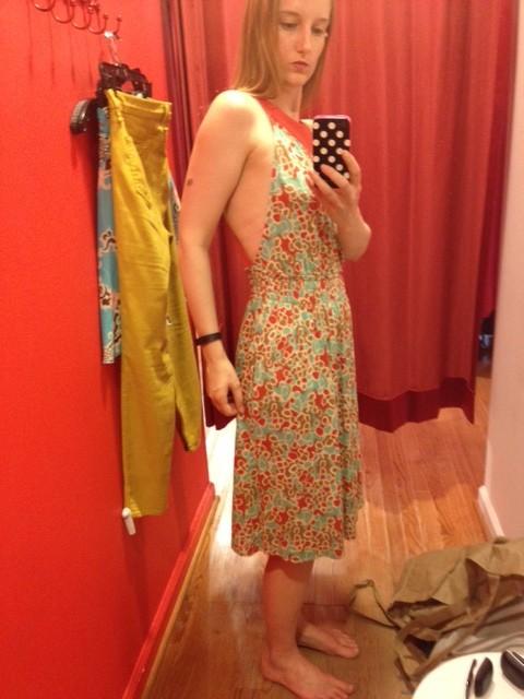 Side of DVF Dress