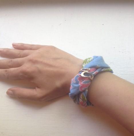 DIY Alexander McQueen Inspired Scarf Bracelet
