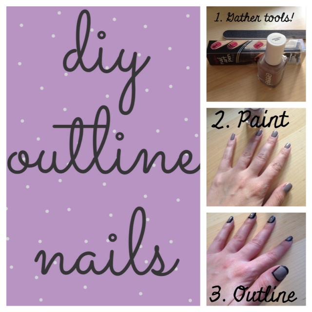 DIY Outline Nails