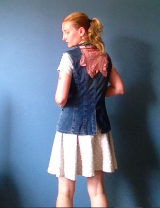 Anthropologie Inspired DIY Lace Denim Vest - Back 2