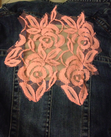 Anthropologie Inspired DIY Lace Denim Vest - Finishing